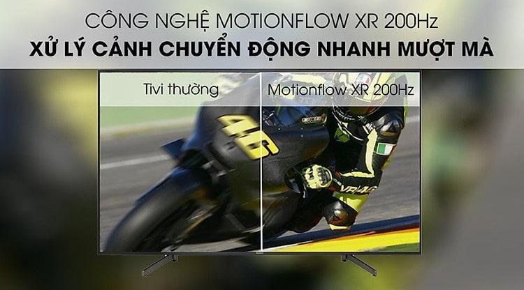 công nghệ Motionflow XR 200Hz xử lý cảnh chuyển động nhanh, mượt mà