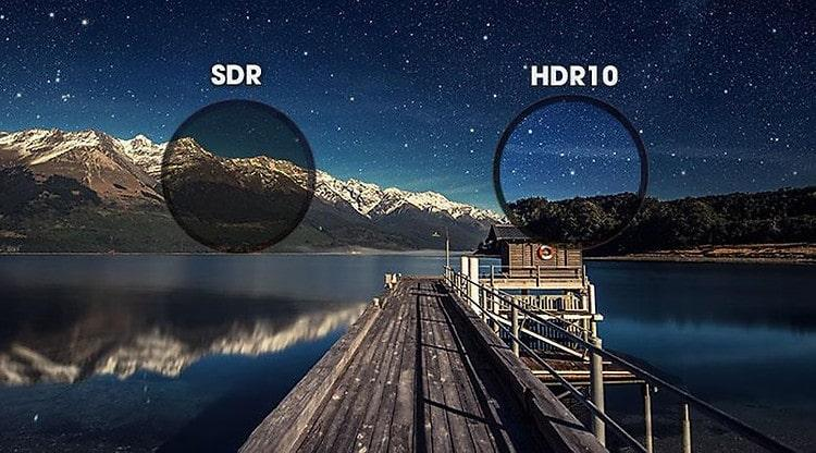 tăng cường độ tương phản với công nghệ HDR10