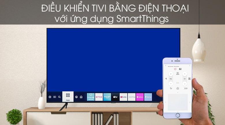 điều khiển tivi bằng điện thoại với ứng dụng SmartThings