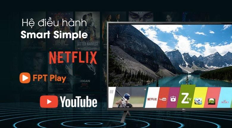 hệ điều hành Smart Simple giao diện đơn giản, dễ sử dụng
