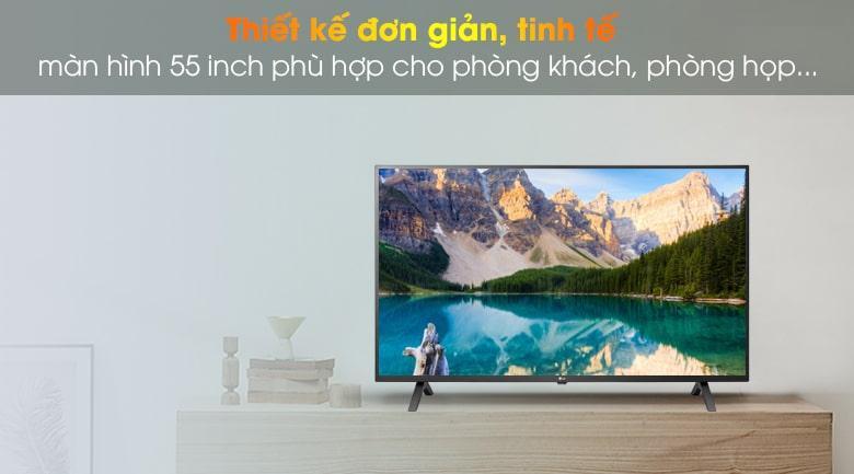 55UN7000 thiết kế tinh tế, đơn giản, phù hợp với phòng khách, phòng họp,..
