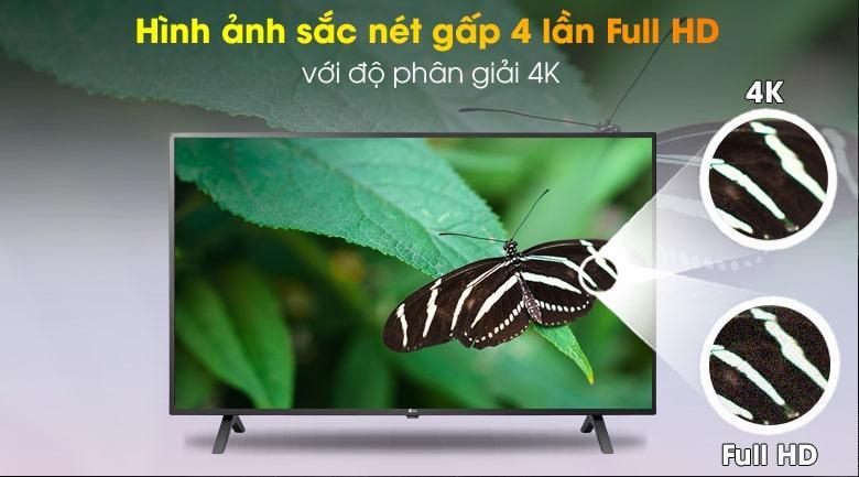 55UN7000 hình ảnh sắc nét gấp 4 lần Full HD với độ phân giải 4K