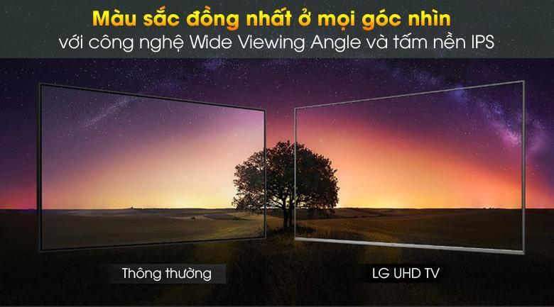 55UN7000 màu sắc đồng nhất ở mọi góc nhìn với công nghệ Wide Viewing Angle và tấm nền IPS