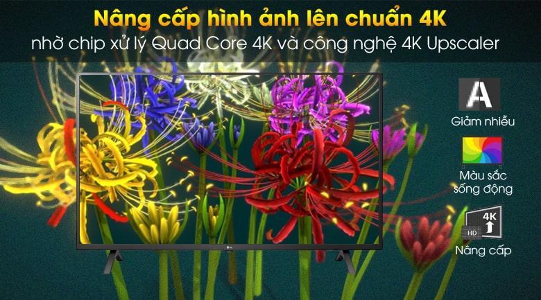 nâng cấp hình ảnh lên chuẩn 4K nhờ chip xử lý Quad Core 4K và công nghệ 4K Upscaler
