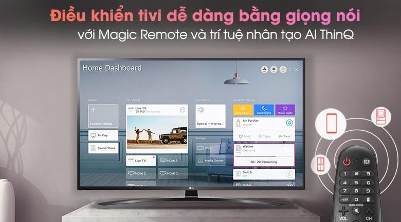 điều khiển tivi dễ dàng bằng giọng nói với Magic Remote và trí truệ nhân tạo Al ThinQ