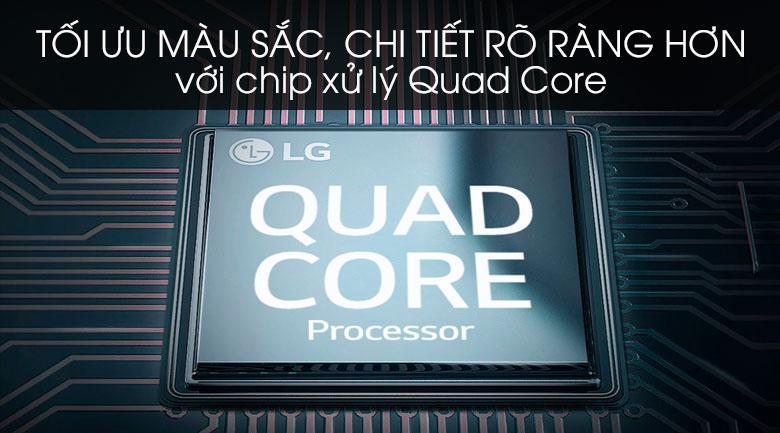 tối ưu màu sắc, chi tiết rõ ràng hơn với chip xử lý Quad Core