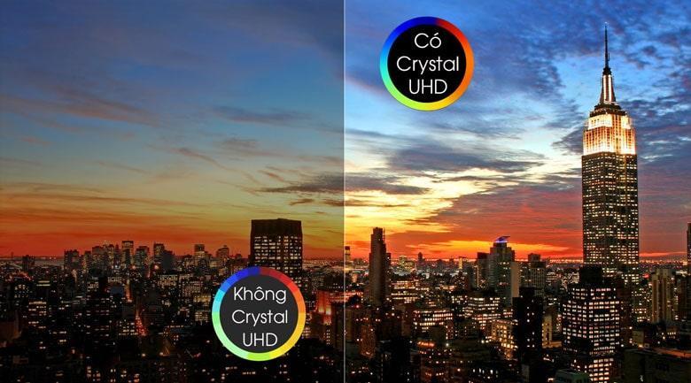 58TU7000 có Crystal UHD cho màu sắc sáng hơn