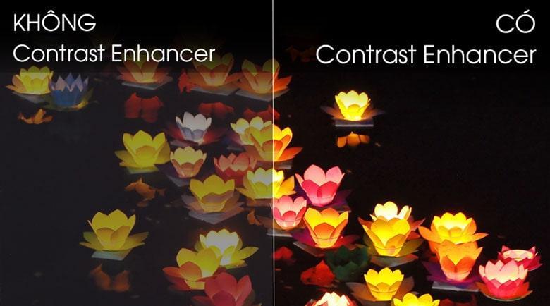 58TU7000 hình ảnh đạt độ tương phản tối đa khi có contrast Enhancer
