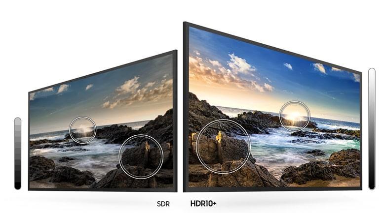 75TU7000 cải thiện độ sáng với HDR 10+