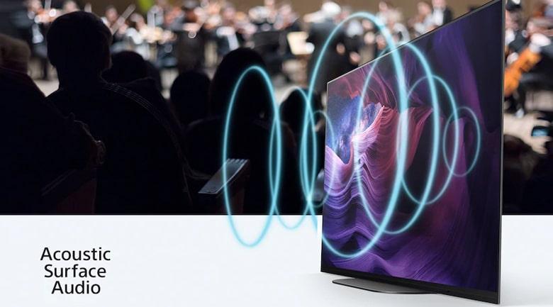 công nghệ âm thanh phát ra trực tiếp từ màn hình với Acoustic Surface Audio