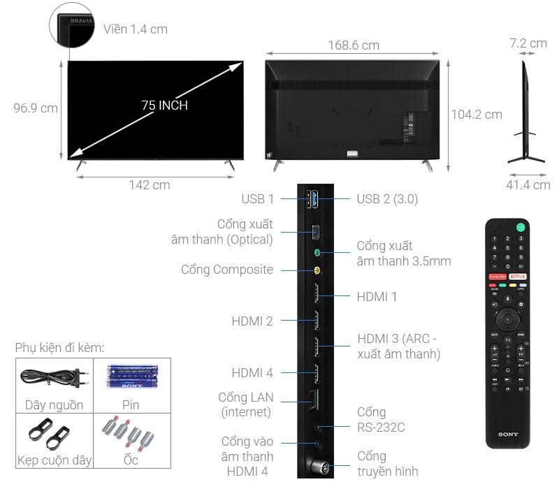 75X8050H thiết kế chi tiết
