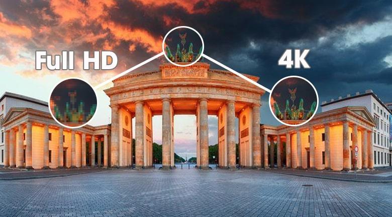 75X8050H hình ảnh sắc nét với độ phân giải 4K