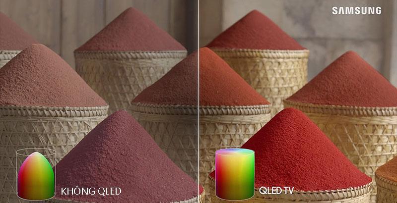 55Q65T QLED TV cho màu sắc sống động hơn