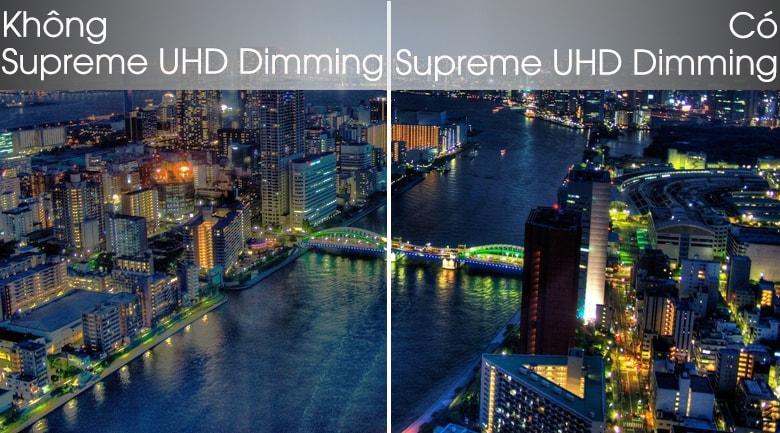 công nghệ supreme UHD Dimming cho tivi thể hiện sáng tối chi tiết hơn