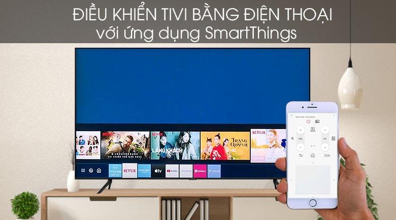 điều khiển tivi 55Q65T bằng điện thoại với ứng dụng smartThings