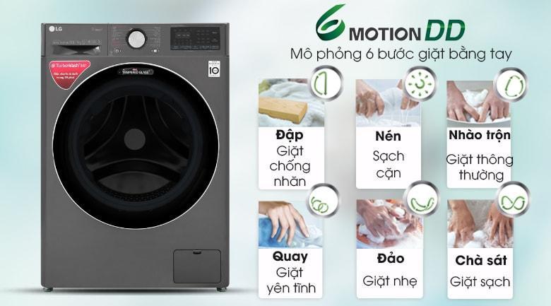 giặt sạch với mô phỏng 6 bước giặt bằng tay