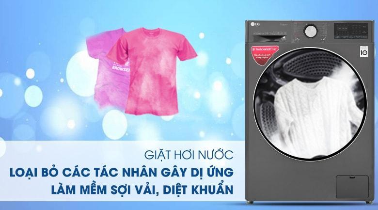 giặt hơi nước loại bỏ các tác nhân gây dị ứng làm mềm sợi vải, diệt khuẩn