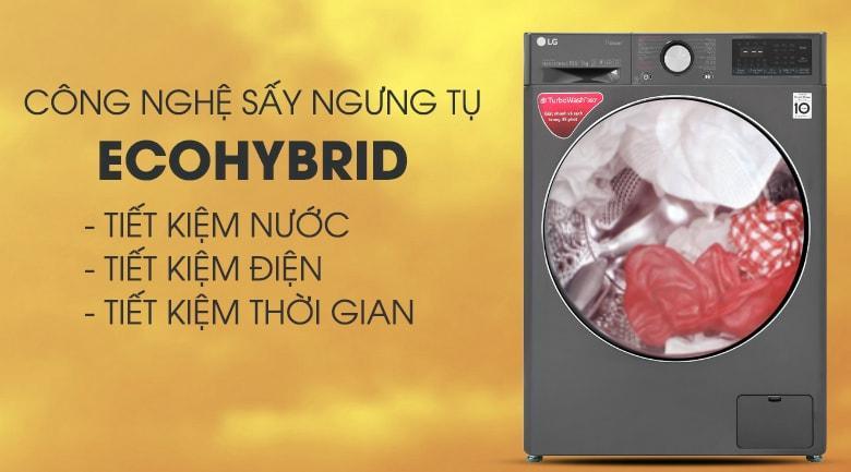 công nghệ sấy ngưng tụ Ecohybrid tiết kiện điện nước, tiết kiệm thời gian
