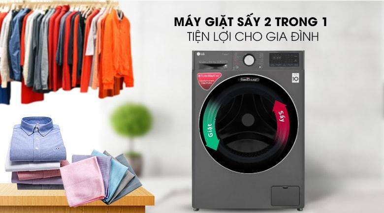 máy giặt sấy 2 trong 1 tiện lợi cho gia đình