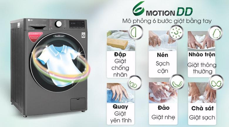 công nghệ giặt mô phỏng 6 bước giặt bằng tay