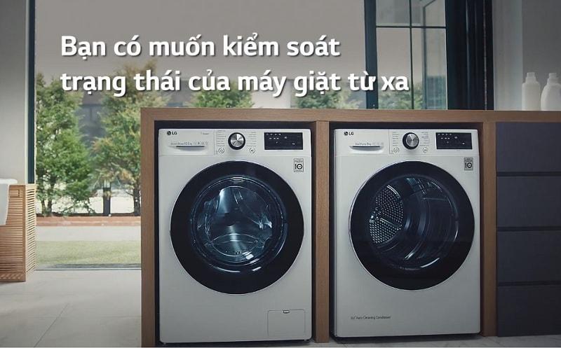 cho người dùng kiểm soát trạng thái của máy giặt từ xa