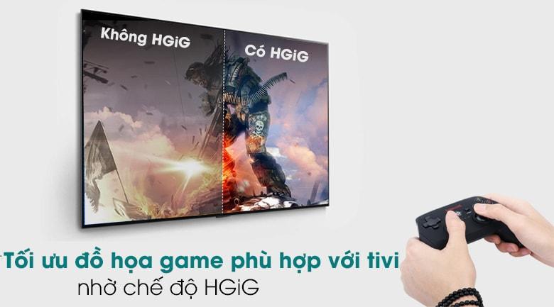 55GX giúp tối ưu đồ họa game phù hợp với tivi nhờ chế độ HGiG