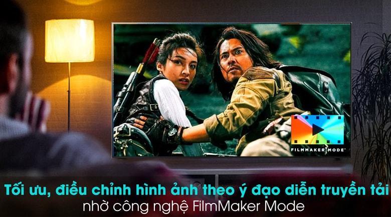 55GX tối ưu, điều hcinhr hình ảnh theo ý đạ diễn truyền tải nhờ công nghệ FilmMaker Mode
