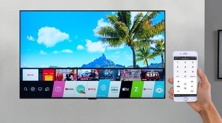 điều khiển tivi 55GX dễ dàng với ứng dụng LG Plus