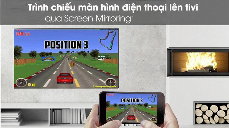 trình chiếu màn hình điện thoại lên tivi 43UN7350 qua Screen Mirroring