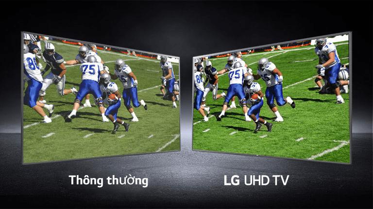 tivi LG 49UN7350 cho trải nghiệm như ở sân vận động