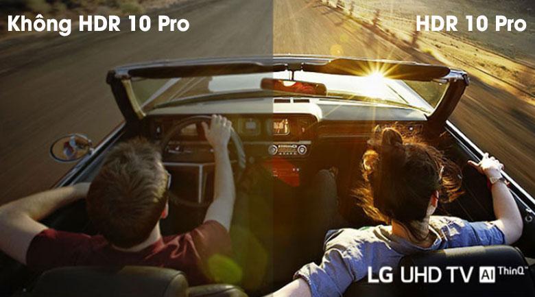 hiển thị nội dung, hình ảnh chất lượng hơn với độ tương phản cao cùng công nghệ HDR 10 Pro