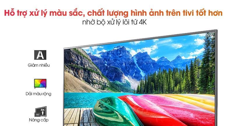 70UN7300 hỗ trợ xử lý màu sắc, chất lượng hình ảnh trên tivi tốt hơn nhờ bộ xử lý lõi tứ 4K