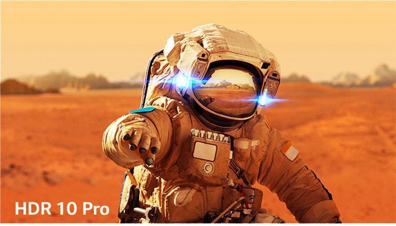 công nghệ HDR 10 cho độ tương phản cao hơn