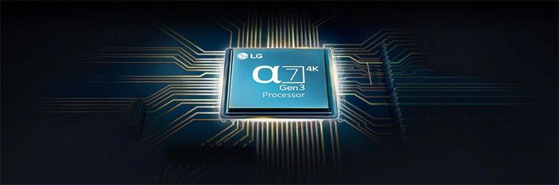 65NANO91 có chip xử lý hình ảnh anpha 7 gen 3 nâng cấp hình ảnh và âm thanh