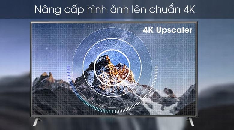 86UN8000 nâng cấp hình ảnh lên chuẩn 4K với 4K upscaler