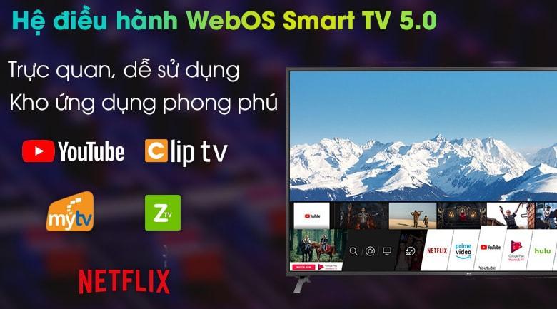 86UN8000 có hệ điều hành WebOS smart TV 5.0 trực quan, dễ sử dụng với kho ứng dụng phong phú