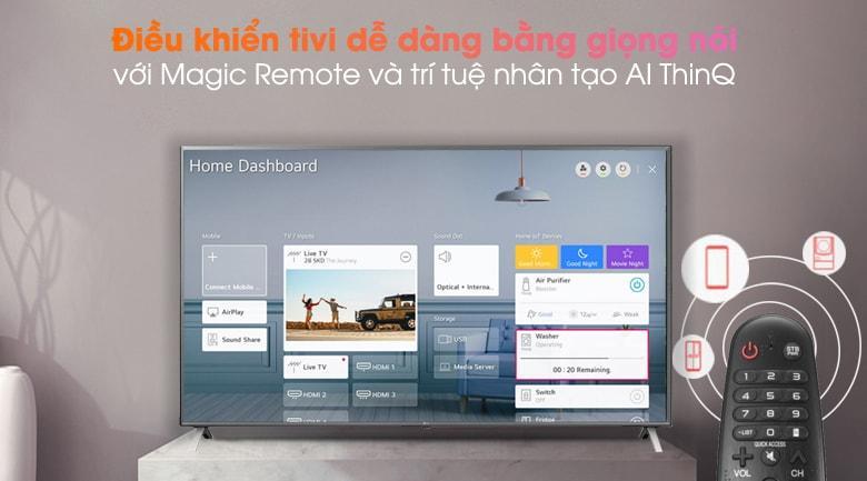 điều khiển tivi dễ dàng bằng giọng nói với Magic Remote và trí tuệ nhân tạo Al ThinQ