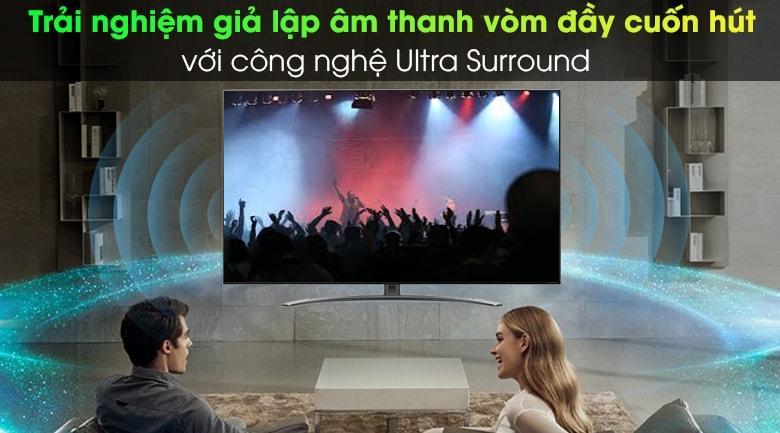 trải nghiệm giả lập âm thanh vòm đầy cuốn hút với công nghệ Ultra Surround trên tivi 55NANO86