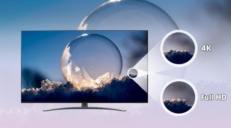 55NANO86 độ phân giải 4K cho hình ảnh sắc nét gấp 4 lần Full HD