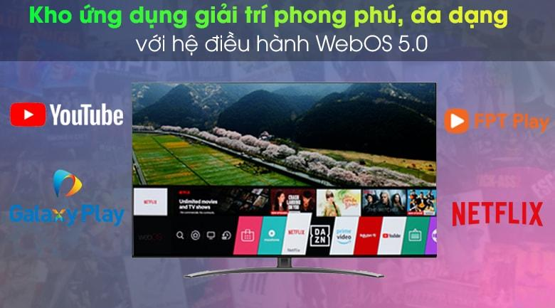 tivi LG 55NANO86 kho ứng dụng giải trí phong phú, đa dạng với hệ điều hành WebOS 5.0
