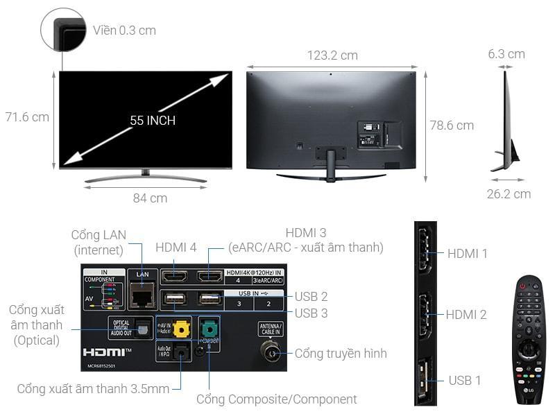 tivi 55NANO86 mô tả chi tiết sản phẩm