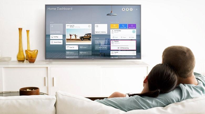 điều khiển tivi 55NANO86 dễ dàng với trí thông minh nhân tạo ThinQ Al và google Assistant