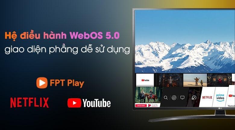 tivi lg trang bị hệ điều hành webOS 5.0 với giao diện dễ sử dụng