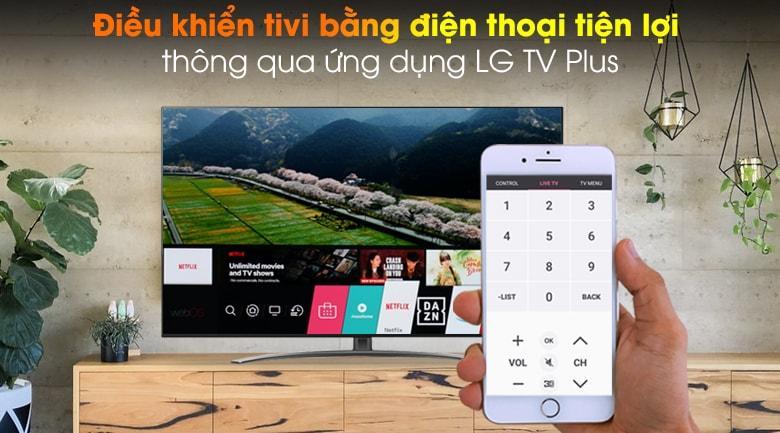 điều khiển tivi bằng điện thoại tiện lợi thông qua ứng dụng LG TV Plus