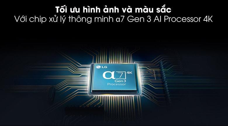 65NANO86 tối ưu hình ảnh và màu sắc với chip xử lý thông minh anpha 7 Gen 3 Al Processor 4K