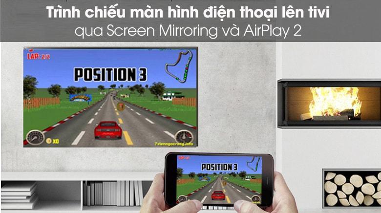 trình chiếu màn hình điện thoại lên tivi qua Screen Mirroring và AirPlay 2