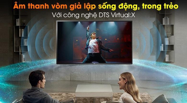 âm thanh vòm giả lập sống động, trong trẻo với công nghệ DTS virtual:X