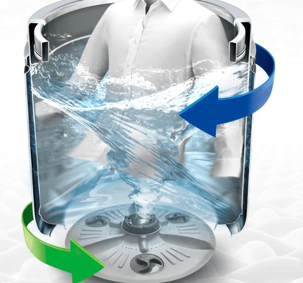 Máy giặt LG T2555VSAB với Giặt xoay chiều TurboDrum™