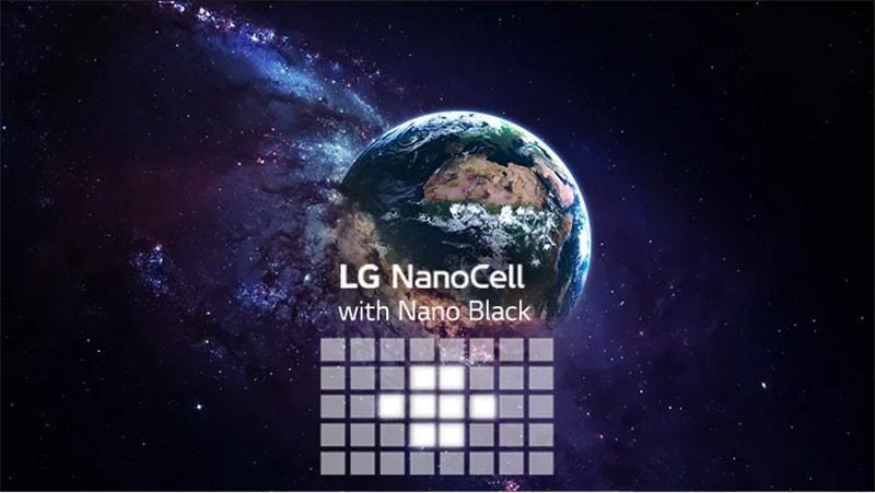 NanoCell với tấm nền Full Aray cho màu đen thể hiện tối hơn