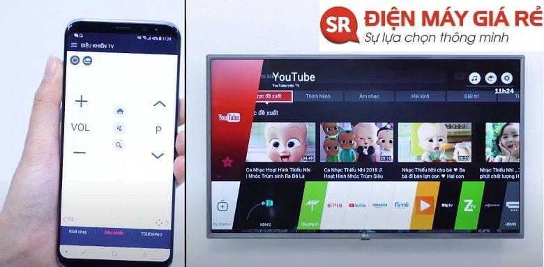 điều khiển tivi bằng điện thoại đơn giản và dễ dàng hơn